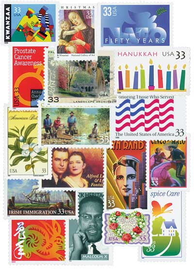 1999 Commemorative Stamp Year Set