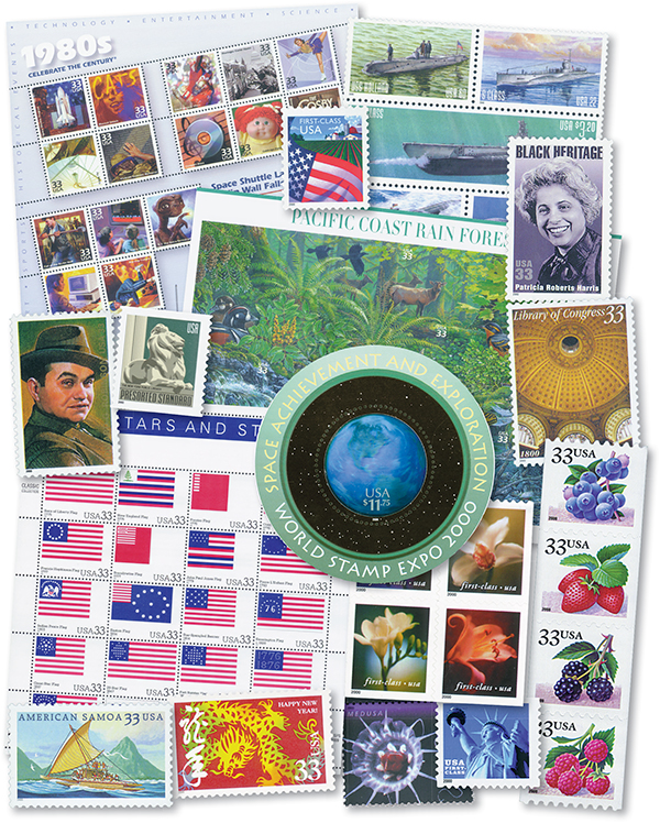 2000 Complete Set of Commemorative and Definitive Stamps