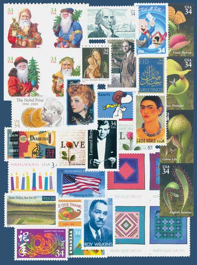 2001 Commemorative Stamp Year Set