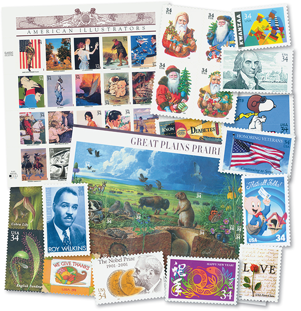 2001 Complete Commemorative Stamp Year Set - 81 stamps