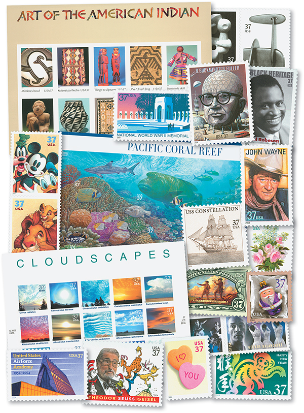 2004 Complete Commemorative Year Set, 83 stamps