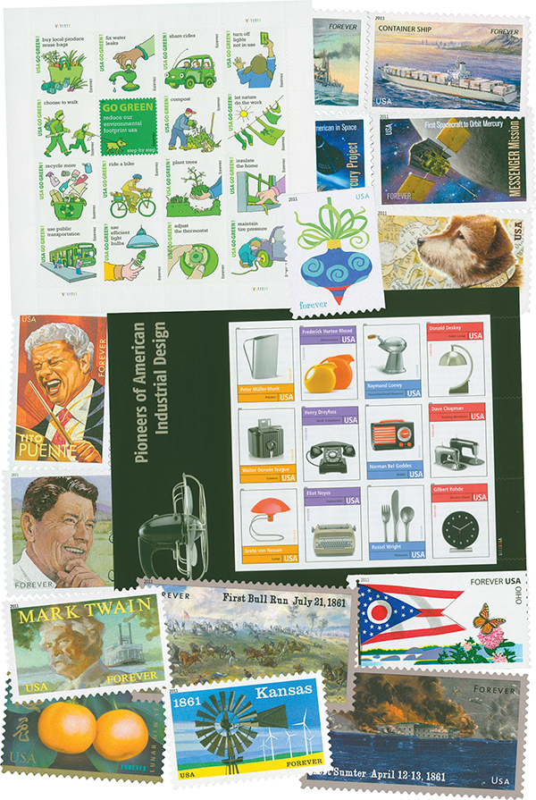 2011 Complete Commemorative Year Set, 104 stamps