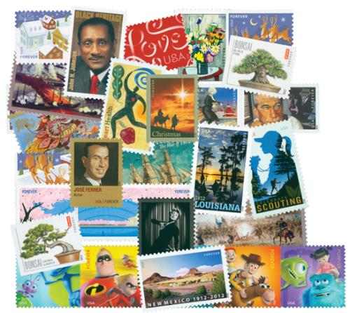 2012 Commemorative Stamp Year Set
