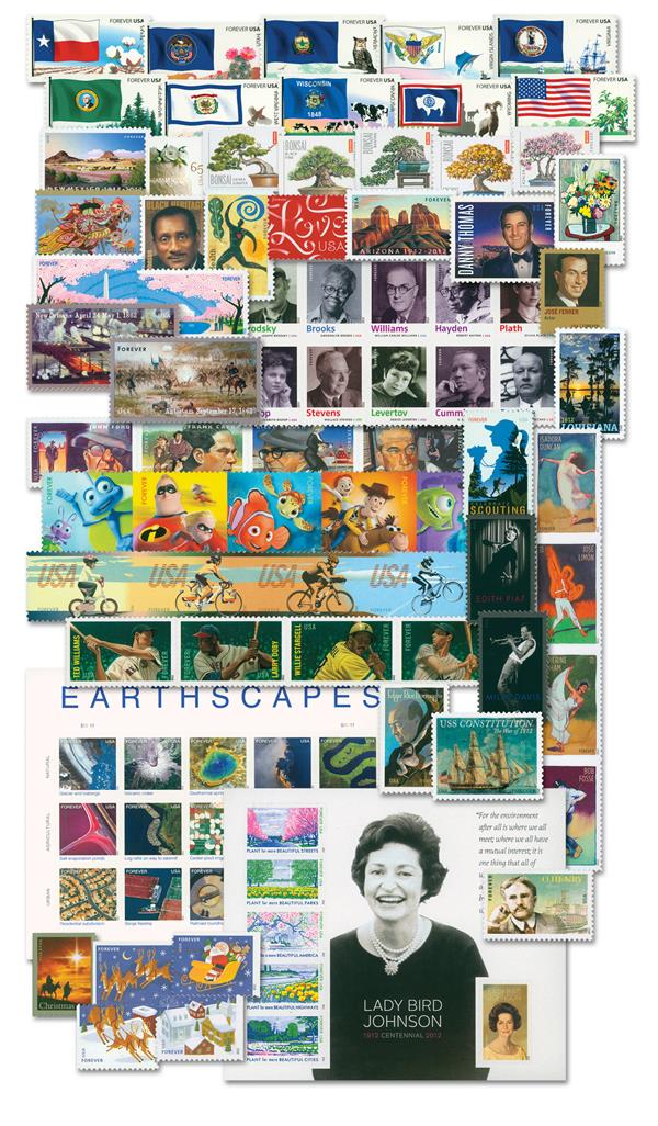 2012 Complete Commemorative Year Set, 93 stamps