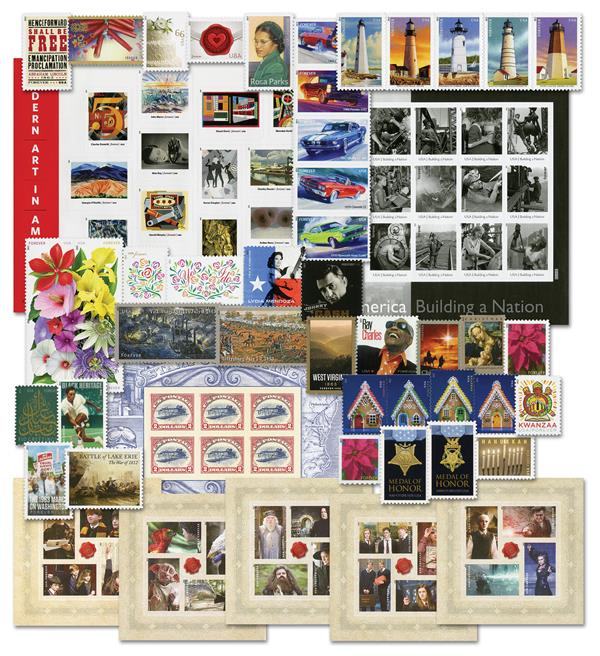 2013 Complete Commemorative Year Set, 93 stamps