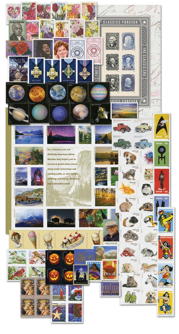 2016 Complete Commemorative Year Set, 122 stamps