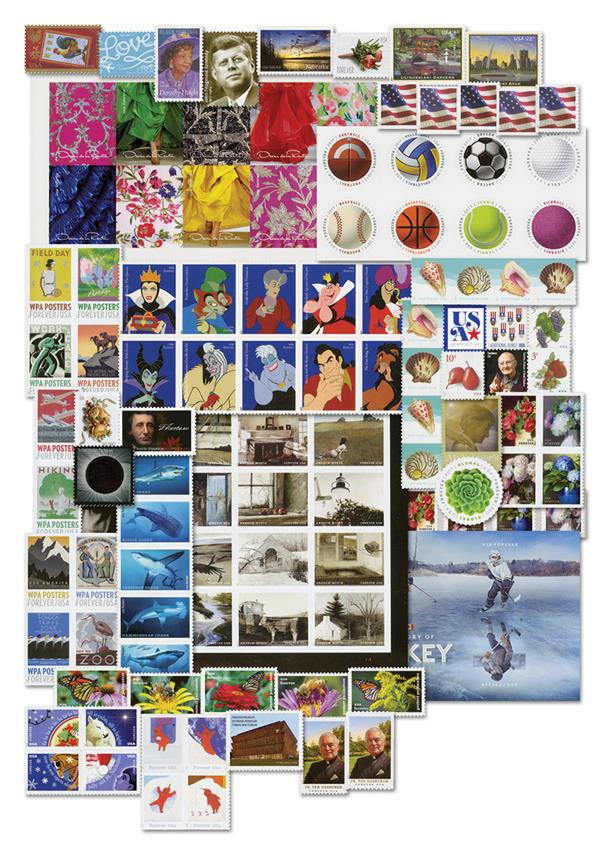 2017 Complete Year Set of US Postage Stamps
