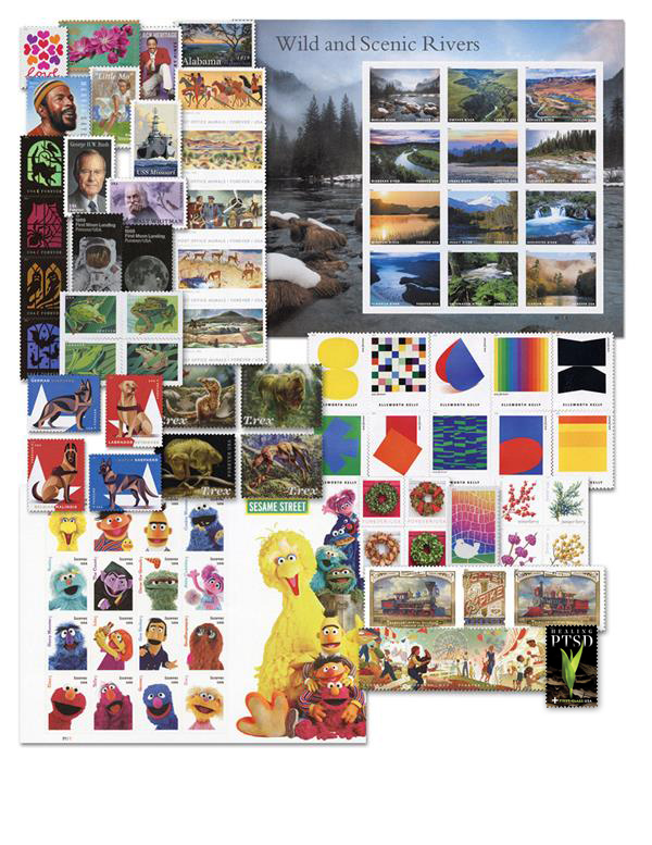 2019 Complete Year Set of U.S. Commemoratives and Regular Issues - 116 Stamps