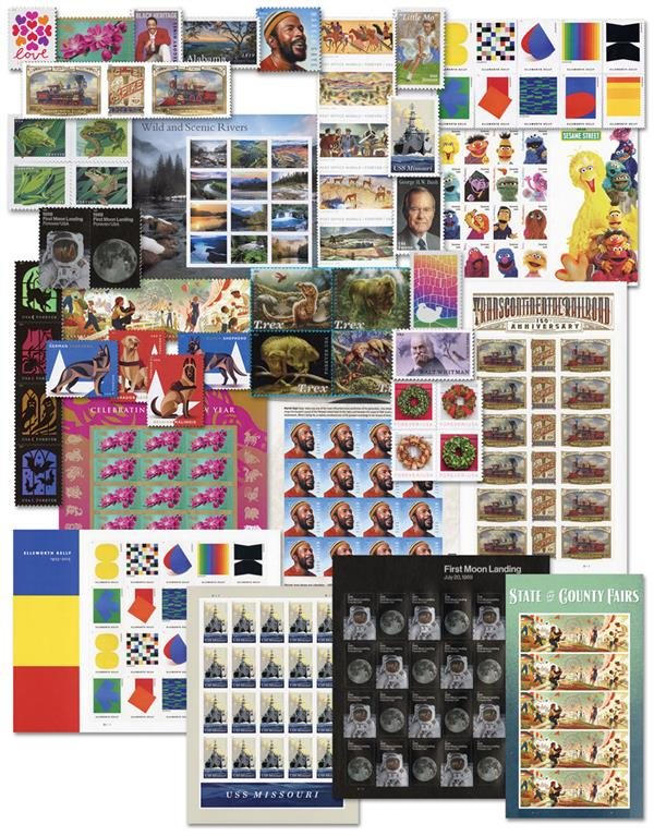 2019 Giant US Commemorative Collection, 212 mint stamps
