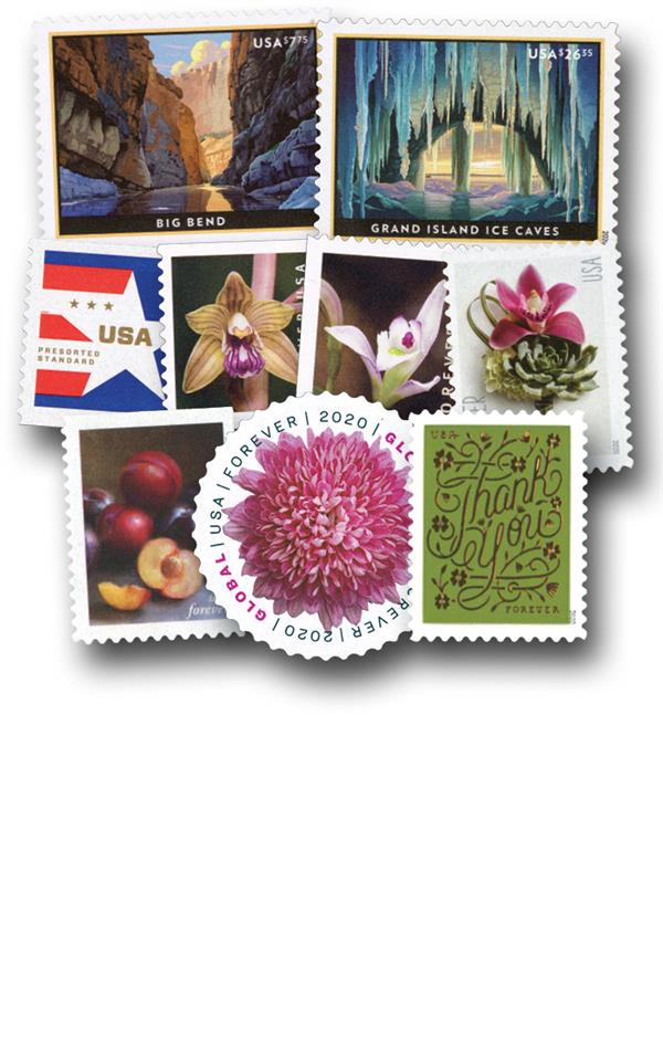 2020 Regular Issue Year Set - 38 Stamps