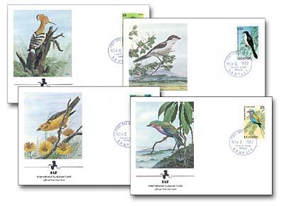 1987 Uganda Birds Set of 4 (IAF)