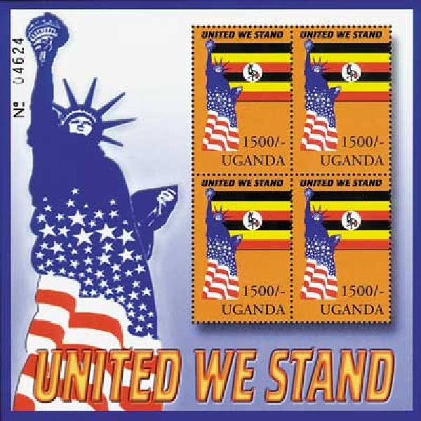Uganda 1500 United We Stand S/S, mint