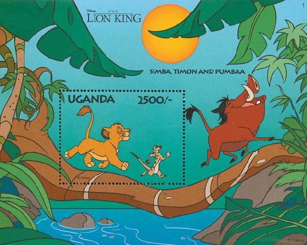 Uganda 1994 Simba & Timon, Mint1269s/s