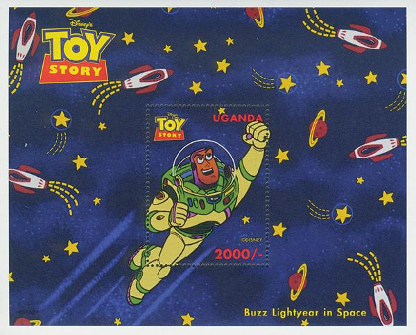 Uganda 1997 Buzz Lightyear in space, S/S