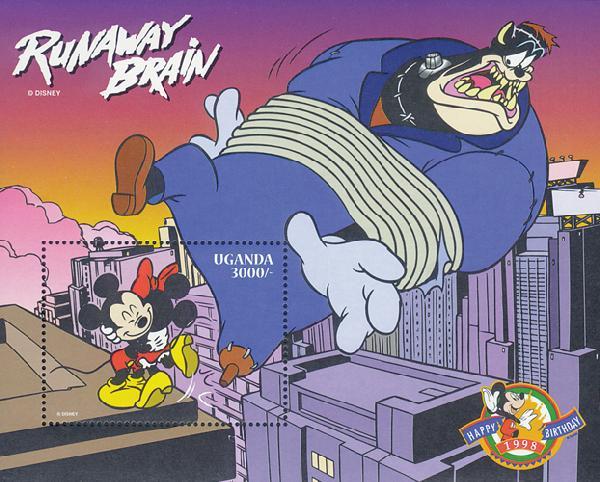 Uganda 1998 Mickey &Minnie embracing S/S