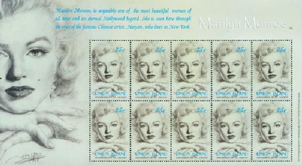 2004 Union Islands Marilyn Monroe 10v
