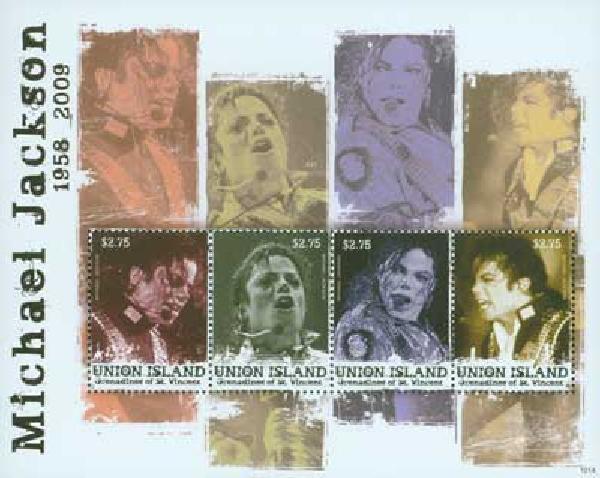 2010 Union Island Michael Jackson 4v M
