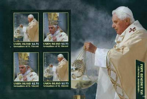 2010 Union Island Pope Benedict 4v M