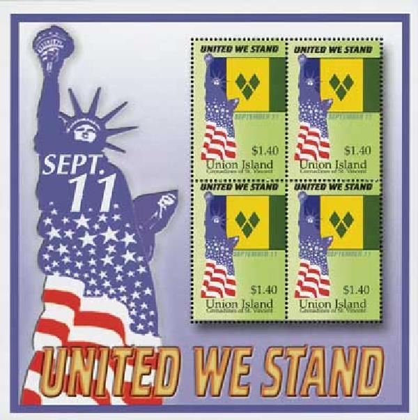 2002 Union Island #255 4v Mint