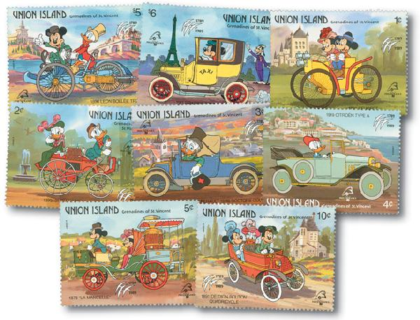 Union Island 1989 Vehicles, 8 Stamps