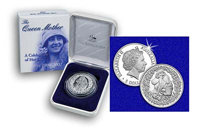 2002 Australia $5 Proof Silver Coin in Case