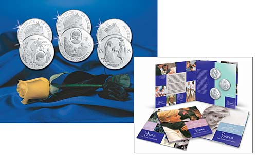 2002 Princess Diana Set/3 Cupro-Nickel BU Coins