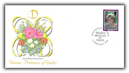 1998 Great Britain Tribute to Diana FDC #4