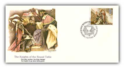 1985 34p Knights of the Round Table