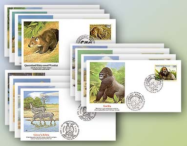1993 UN Endangered Species Set of 12 Covers