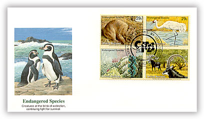 1993 UN NY Endangered Species Combo FDC
