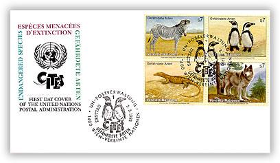 1993 UN VN Endangered Species Combo FDC