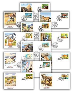 1997 Endangered Species FDC Set of 12