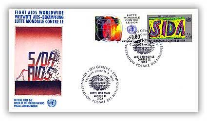 1990 Fs Fight Aids World Wide