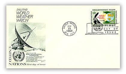 1968 6c World Weather Watch