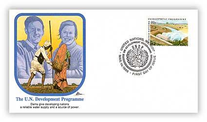1986 22c UN Development Programme, Dams