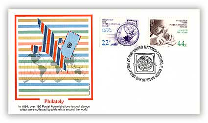 1986 22/44c Chicago Philately Combination