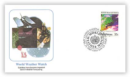 1989 25c UN World Weather Watch
