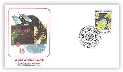 1989 36c UN World Weather Watch Cover