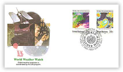 1989 UN World Weather Watch Combination Cover