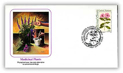 1990 25c Medicinal Plants First Day Cover