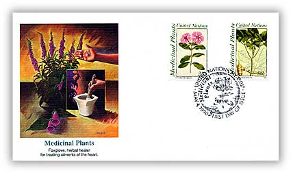 1990 NY UN Medicinal Plants Combination Cover