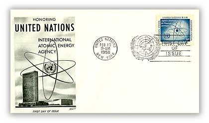 1958 8c Atomic Energy Agency