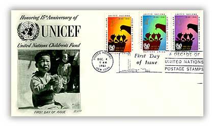 1961 3c/4c/13c UNICEF