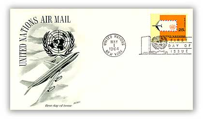 1964 25c Airplane & Air Mail Envelope