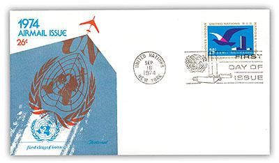 1974 26c Stylized Bird in Flight