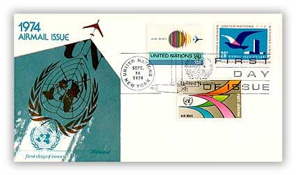 1974 13c/18c/26c Airmail