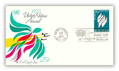 1977 25c Winged Air Mail Letter