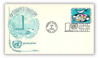6c Dove & Globe Envelope, 6 3/4, 1969