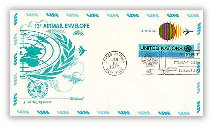 1975 13c Air Envelope 6 3/4 75