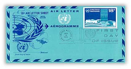 18c Air Letter Sheet 1975